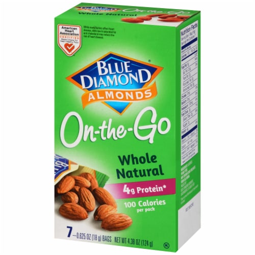 Blue Diamond Whole Natural Almonds 100 Calorie Bags Perspective: right