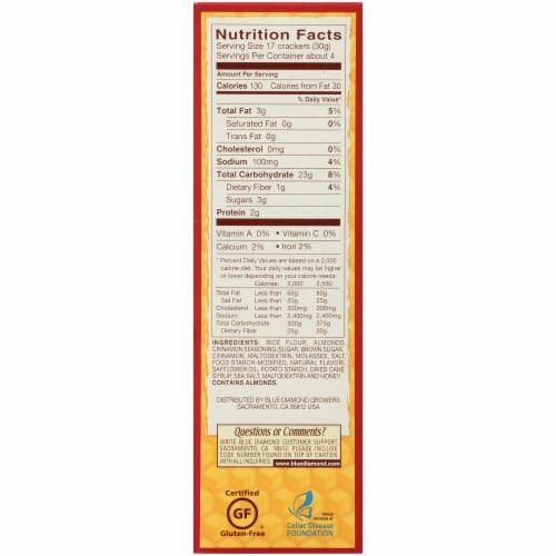 Blue Diamond Nut-Thins Honey Cinnamon Almond Crackers Perspective: right