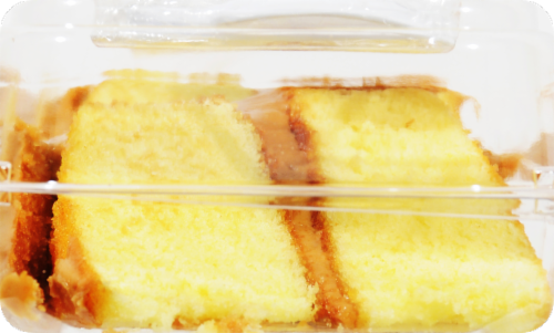 Dillons Bakery Caramel Iced Yellow Cake Slices Perspective: right