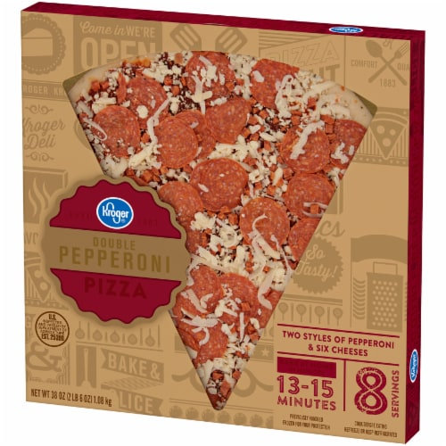 Kroger® Double Pepperoni Pizza Perspective: right