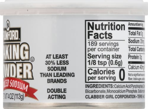 Rumford Reduced Sodium Baking Powder Perspective: right