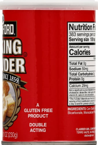 Rumford Double Acting Baking Powder Perspective: right