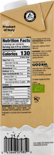 Better Than Milk Organic Unsweetened Oat Drink Perspective: right