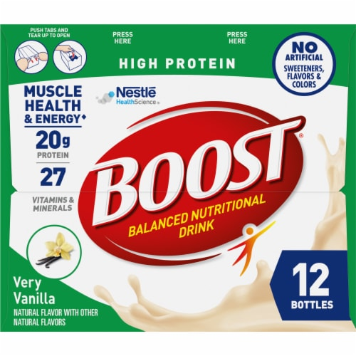 Boost High Protein Very Vanilla Nutritional Drink Perspective: right