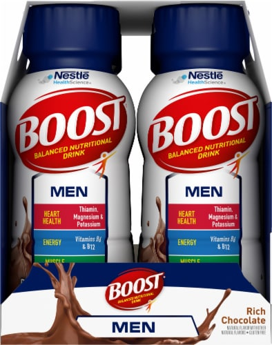 Boost Men Rich Chocolate Balanced Nutritional Drink Perspective: right