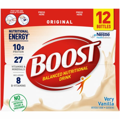 Boost Very Vanilla Nutritional Drink Perspective: right