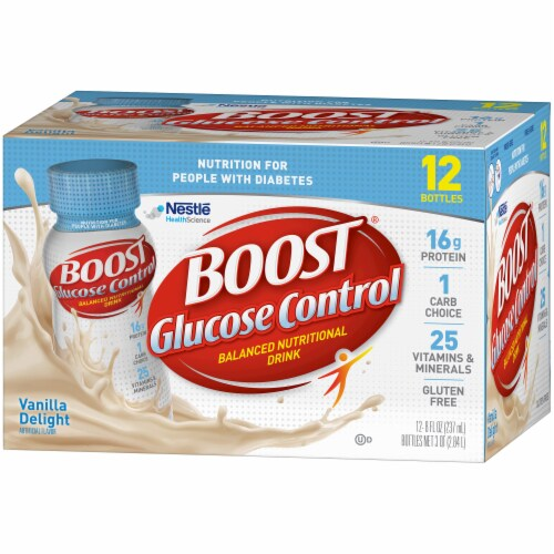 Boost Glucose Control Very Vanilla Balanced Nutritional Drink 12 Count Perspective: right