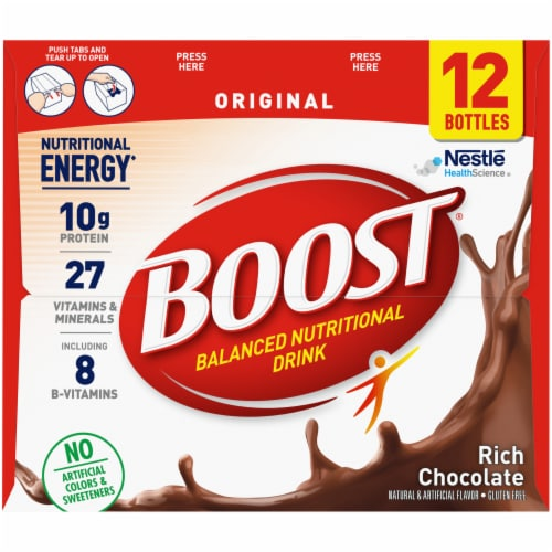 Boost Original Rich Chocolate Nutritional Drink Perspective: right