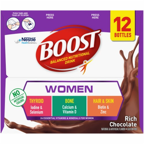 Boost Rich Chocolate Women's Balanced Nutritional Drink Perspective: right