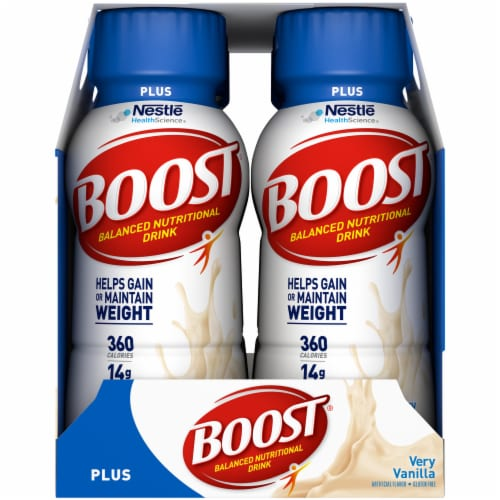 Boost Plus Very Vanilla Balanced Nutritional Drink 6 Count Perspective: right