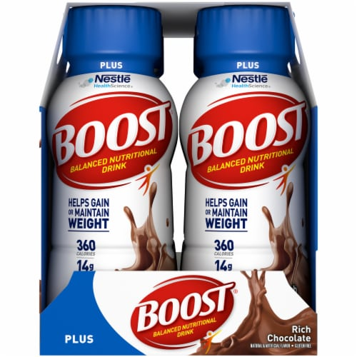 Boost Plus Rich Chocolate Nutritional Drink Perspective: right