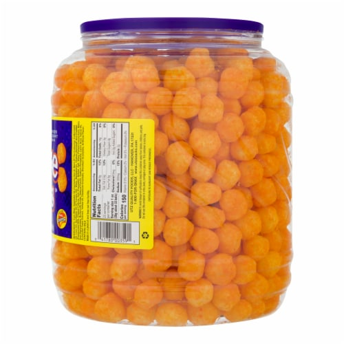 Utz Baked Cheddar Cheese Balls Perspective: right