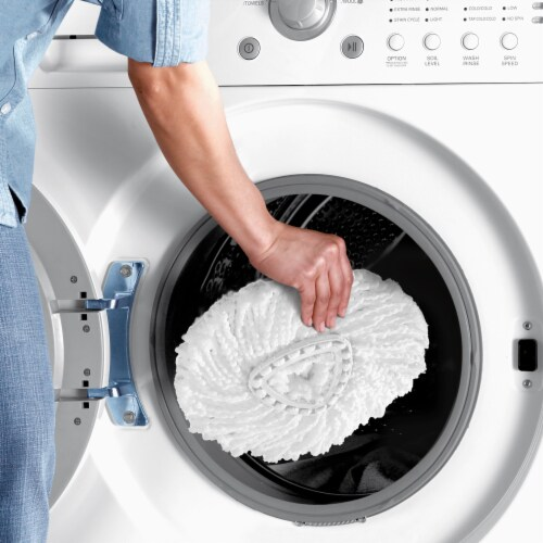 O-Cedar® Microfiber EasyWring Spin Mop & Bucket System Box Perspective: right