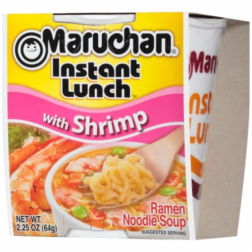 Maruchan Instant Lunch with Shrimp Ramen Noodle Soup Perspective: right