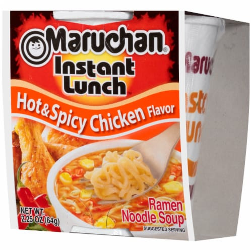 Maruchan Instant Lunch Hot & Spicy Chicken Flavor Ramen Noodle Soup Perspective: right