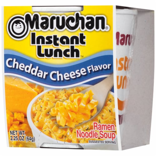 Maruchan Instant Lunch Chedder Cheese Flavor Ramen Noodle Soup Perspective: right