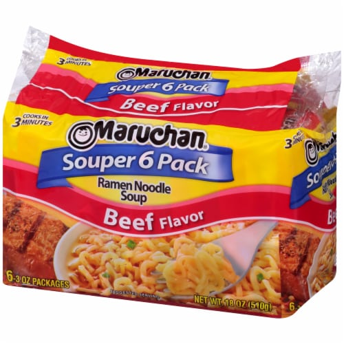 Maruchan Beef Ramen Noodle Soup Perspective: right