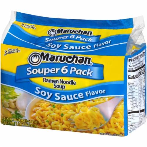 Maruchan Ramen Souper 6-Pack Oriental Flavor Noodle Soup Perspective: right