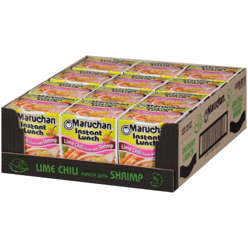 Maruchan® Instant Lunch™ Lime Chili With Shrimp Flavor Ramen Noodle Soup Perspective: right