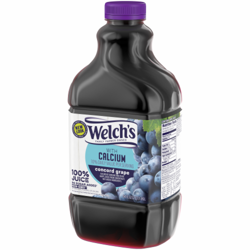 Welch's 100% Concord Grape Juice with Calcium Perspective: right
