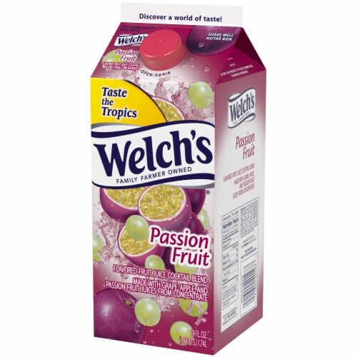 Welch's Passion Fruit Flavored Fruit Juice Cocktail Blend Perspective: right