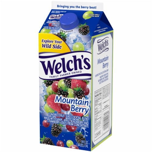 Welch's Mountain Berry Flavored Fruit Juice Cocktail Blend Perspective: right