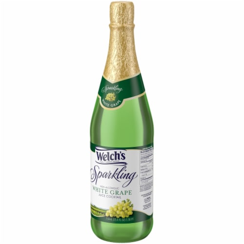 Welch's Sparkling Non-Alcoholic White Grape Juice Cocktail Perspective: right