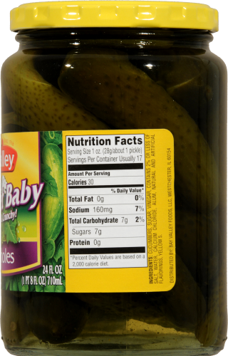 Nalley Sweet Baby Whole Pickles Perspective: right