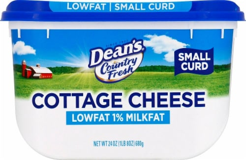 Dean's 1% Milkfat Small Curd Cottage Cheese Perspective: right