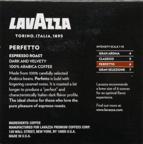 LavAzza Perfetto Espresso Roasted Ground Coffee K-Cup Pods Perspective: right