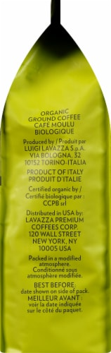 LavAzza Tierra Light Roast Organic Ground Coffee Perspective: right