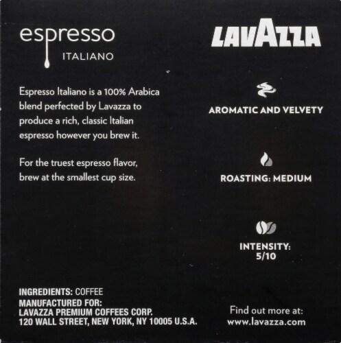 LavAzza Espresso Italiano Ground Coffee KCup Box Perspective: right