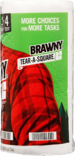 Brawny® Tear-A-Square Double Paper Towel Rolls Perspective: right