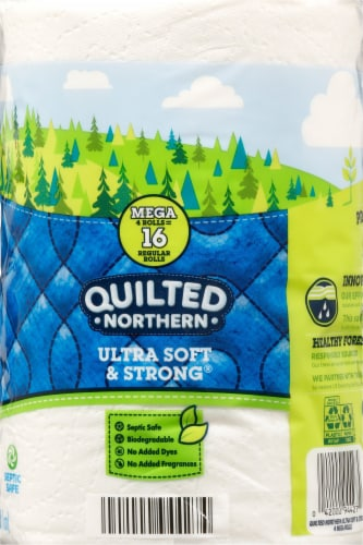 Quilted Northern Ultra Soft & Strong® Bath Tissue Mega Rolls Perspective: right