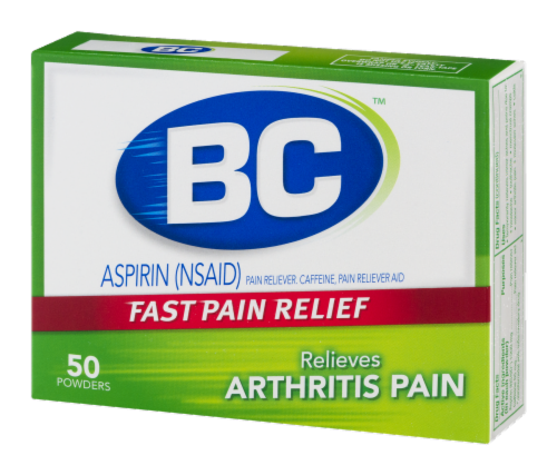 BC Arthritis Fast Pain Reliever Powders Perspective: right