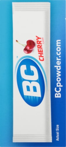 BC Aspirin Caffiene Pain Reliever Aid Cherry Powder Perspective: right