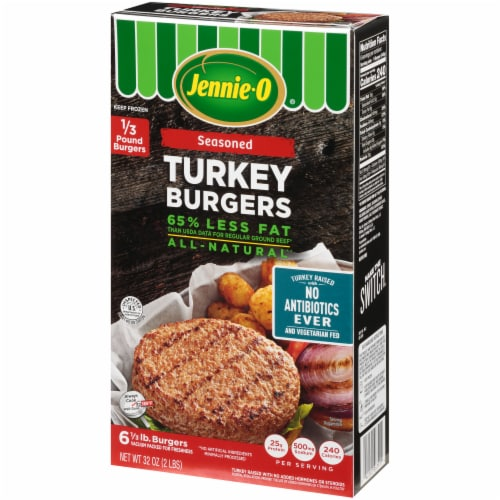 Jennie-O Seasoned Turkey Burgers 6 Count Perspective: right
