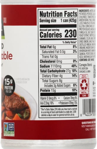 Gardein Plant-Based Be'f and Country Vegetable Soup Perspective: right