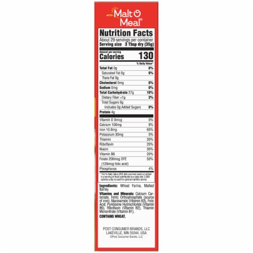 Malt-O-Meal Original Quick Cooking Hot Wheat Cereal Perspective: right