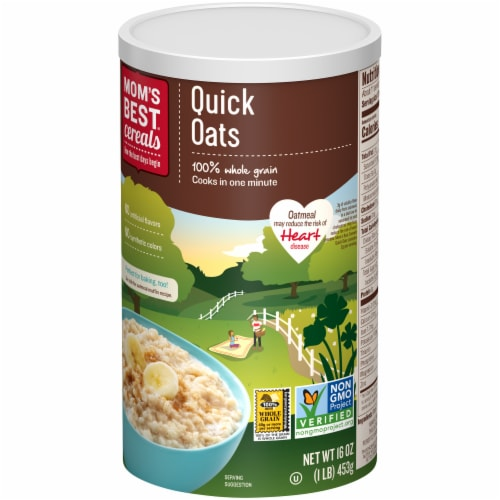 Mom's Best Quick Oats Perspective: right