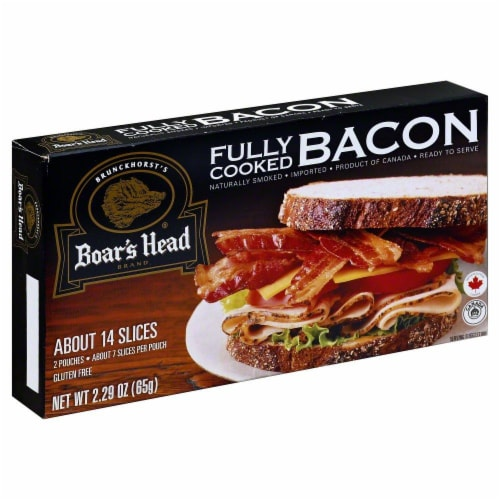 Boar's Head Fully Cooked Bacon Perspective: right