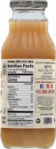 Lakewood Organic Pure Lemon Juice Perspective: right
