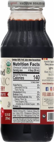 Lakewood Organic Tart Cherry Concentrate Juice Beverage Perspective: right