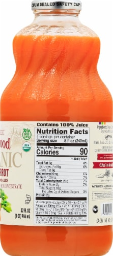 Lakewood Organic Pure Carrot Juice Perspective: right