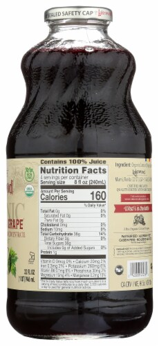 Lakewood Organic Pure Concord Grape Juice Perspective: right