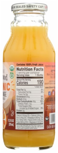 Lakewood Organic Pure Orange Fruit Juice Perspective: right