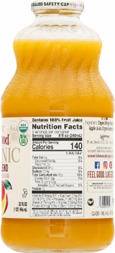 Lakewood Organic Mango Juice Perspective: right