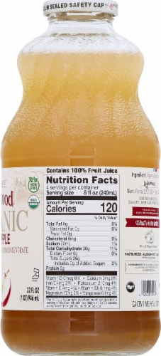 Lakewood Organic Pure Apple Juice Perspective: right