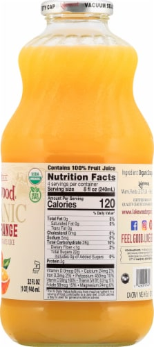 Lakewood Organic Fresh Pressed Pure Orange Juice Perspective: right