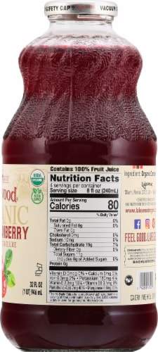 Lakewood Organic Pure Cranberry Juice Perspective: right